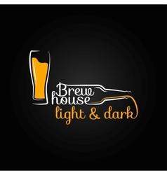 beer glass bottle house design background vector image