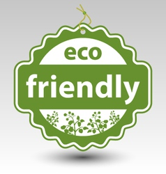 green eco friendly stamp tag label vector image