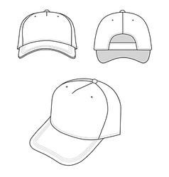outline cap vector image