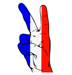 Peace Sign of the French flag vector image vector image