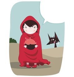 Red Riding Hood vector image vector image