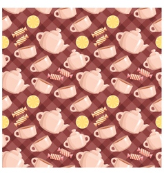 seamless tea pattern vector image vector image