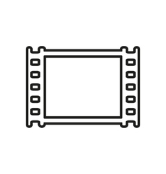 The film icon Film symbol Flat vector image