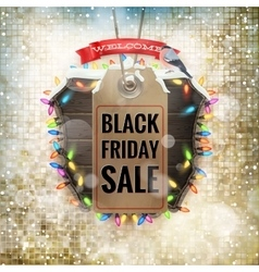 Black Friday sale price tag EPS 10 vector image vector image
