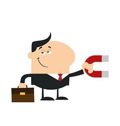 Businessman Attracting Money vector image vector image