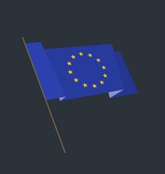 flat style waving european union flag vector image vector image