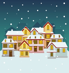 Old winter town vector image