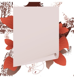 autumn paper vector image vector image
