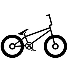 bicycle icon on white background eps 10 vector image