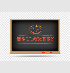 blackboard halloween drawing vector image