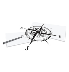 compass paper vector image