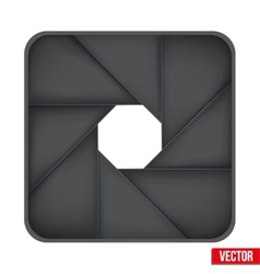 Icon of Camera aperture lens vector image