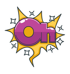oh sign made of huge shiny letters with bright vector image vector image