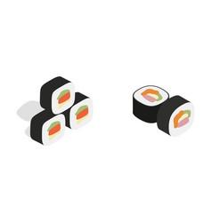 Sushi icon set isometric style vector