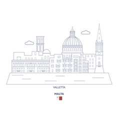 Valletta city skyline vector