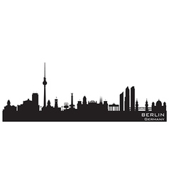 Berlin Germany skyline Detailed silhouette vector image
