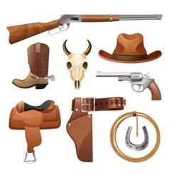 Cowboy Elements Set vector image vector image