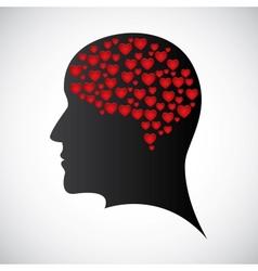 Heart mind vector image