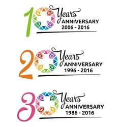 hospital anniversary colorful symbol vector image