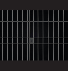 Prison bars cell vector