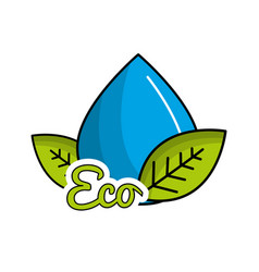 reduce and save water icon vector image
