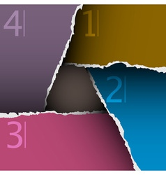 Torn paper number background vector image