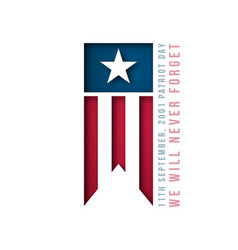 911 usa patriot day banner 11th september 2001 vector image