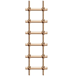 A ladder made of wood and rope vector