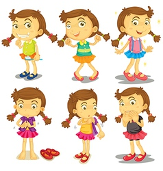 A young girl vector image
