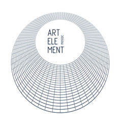 abstract 3d linear mesh in a shape of circle vector image