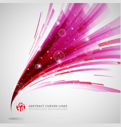 abstract pink and red lines curve circle swirl vector image