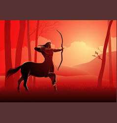 ancient greek mythical character centaur vector image