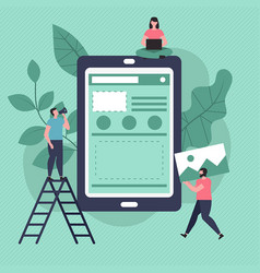 App development and design concept app vector