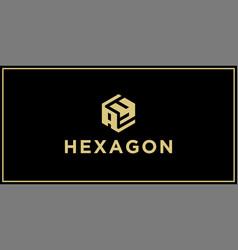 Ay hexagon logo vector