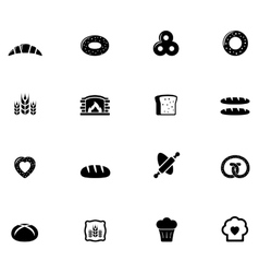 bakery and bread object set vector image