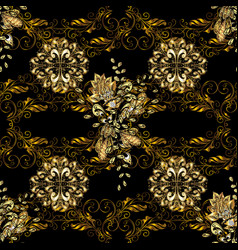 Black colors with golden elements gold metal with vector