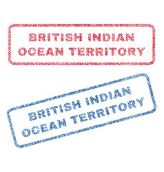 British indian ocean territory textile stamps vector