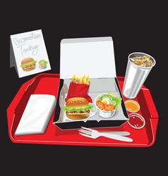 Burger box set vector