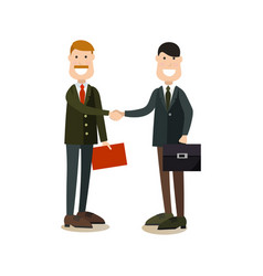 business people handshake in vector image