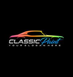 Classic auto paint logo template vector