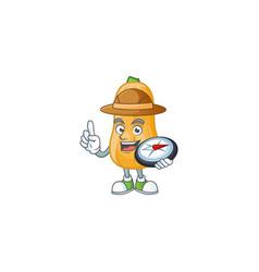 Cool explorer butternut squash cartoon character vector