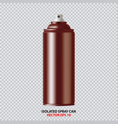 Copper paint aerosol spray metal bottle can vector