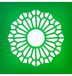 Decorative mandala symbol ornamental logo vector