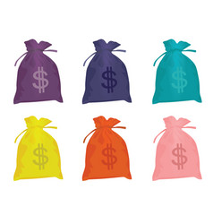 dollar bags vector image