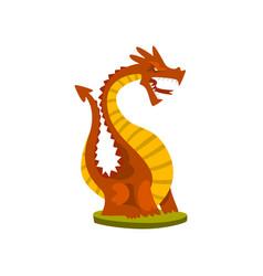 Dragon animal fantasy or fairy tale character vector