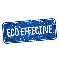 Eco effective blue square grunge textured isolated vector