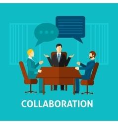 Flat Collaboration Icon vector