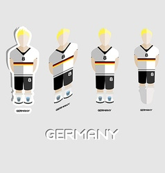 Germany Soccer Team Sportswear Template vector image
