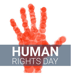 Global human rights day concept background vector