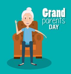 grandparents day design vector image